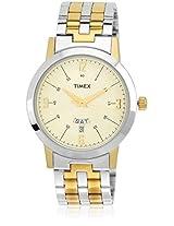 Ti000u80000 Two Tone/Black Analog Watch Timex