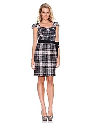 Guess Kleid Reißverschluss (Weiß/Schwarz)