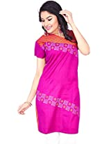 Rucchi By Praveen Women's Cotton Pink Kurti