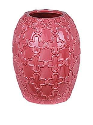 Privilege International Oval Ceramic Pink Vase