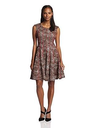 Chetta B Women's Animal Printed Fit-and-Flare Dress