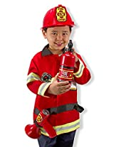 Melissa & Doug 4834 Fire Chief Role Play Costume Set