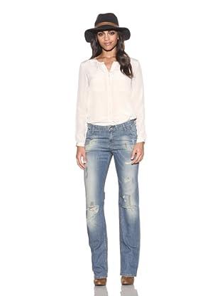 4 Stroke Women's Troubadour Boyfriend Fit Jeans (Suspicion/Vintage Wash/Stain)