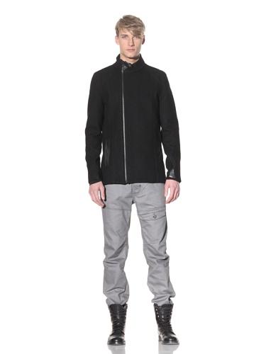 i.am Men's Asymmetrical Zip Jacket (Black)