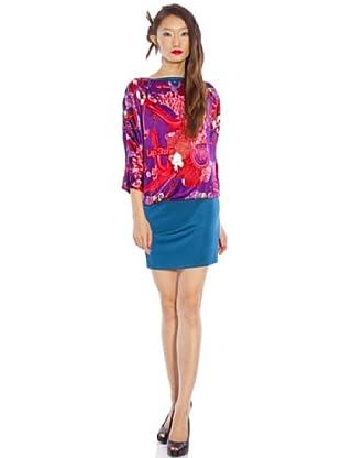 Custo Vestido Drip Lipgloss (Morado / Fucsia / Azul Petróleo)