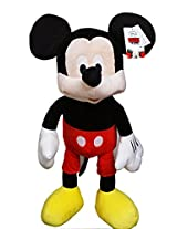 Disneys Mickey Mouse Classic Clothes Jumbo Plush Toy W/Secret Pouch (23in)