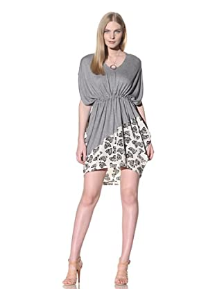 Thakoon Addition Women's Half-Print Tie Dress (Grey/Cream)