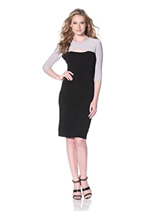 KAMALIKULTURE Women's Colorblock Dress (Black/Light Grey)