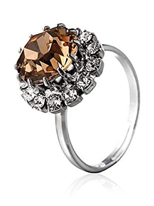 SWAROVSKI ELEMENTS Anillo Saton Brandy