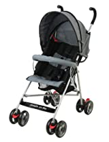 Dream On Me Single Stroller with large Canopy, Black