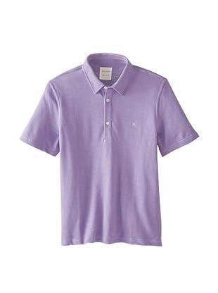 Billy Reid Men's Slub Pique Polo (Lavender)