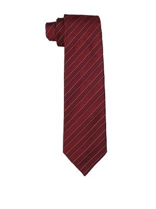Valentino Men's Thin Striped Tie, Wine