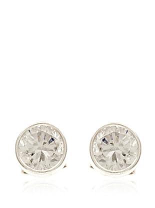 Silver One Pendientes Chatón Zirconium