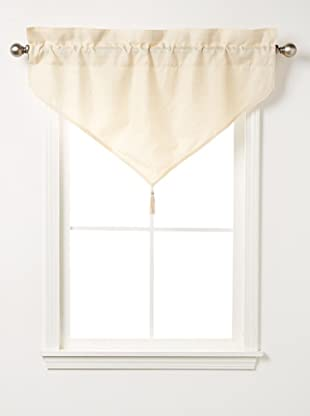 Waterford Linens Kerrigan Ascot Valance, Cream/Taupe, 40