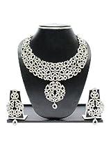 Studded Necklace Set By Zaveri Pearls