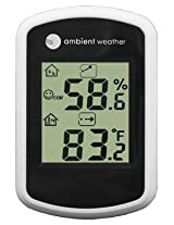 Ambient Weather WS-03 Compact Indoor Temperature and Humidity Monitor, 1-Pack
