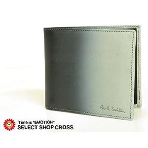 PaulSmith ポールスミス 二つ折り財布 グラデーションブラック 10年秋冬モデル ACXA-1033-W241 並行輸入品