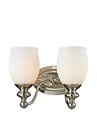 Artistic Lighting Park Ridge 2-Light LED Sconce, Polished Nickel