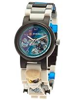 LEGO Kids' 9009808 LEGO Ninjago Zane Plastic Watch with Link Bracelet and Figurine