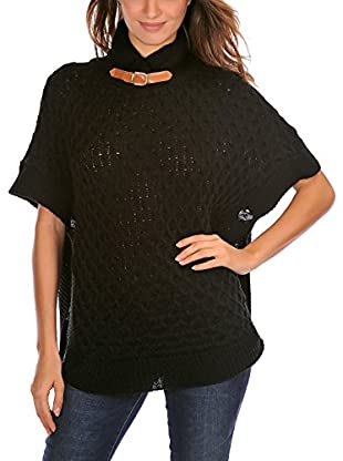French Code Poncho Rose