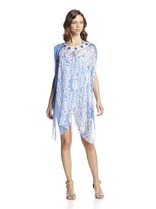Valery Blu Women's Printed Tunic (Blue)
