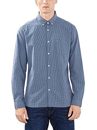 ESPRIT Hemd mit Vichy Karo blau L