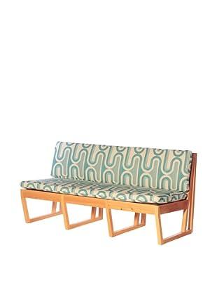 nine6 Design Cypress Jacinto Sofa, Turquoise/Blonde