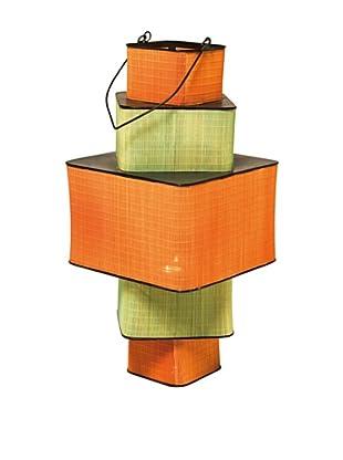Kare Design Portavelas Bamboo Step Square 79 Cm