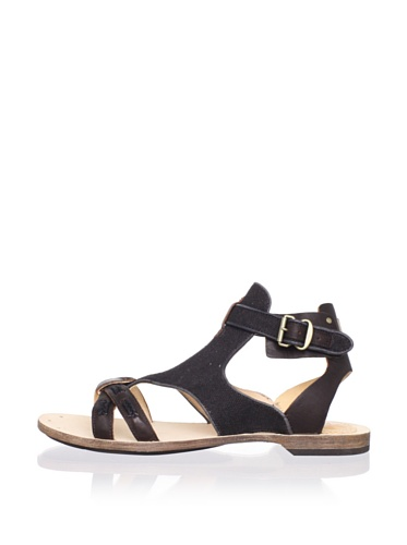 Timberland Women's Gavie Leather Sandal (Black)