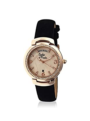 Sophie and Freda Women's SF4007 New Orleans Black/Cream Leather Watch