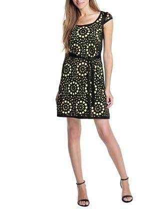 ESPRIT Collection Vestido Rosie (Negro / Amarillo)