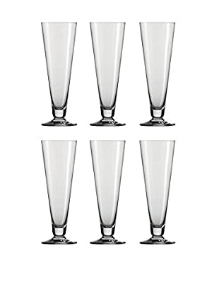 Schott Zwiesel Set of 6 Tritan Footed Pilsner Glasses, Clear