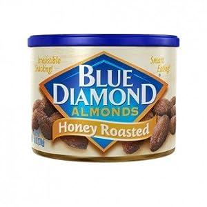 Blue Diamond Almonds - Honey Roasted - 150gms - Can - Blue Diamond