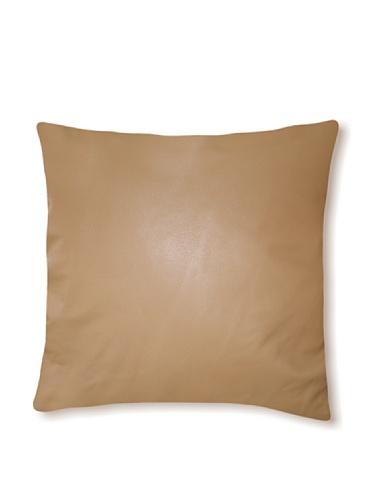 Natural Siena Leather Pillow (Medium Crème)