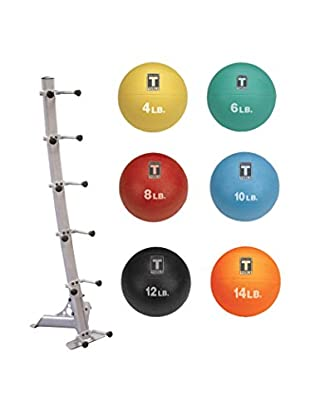 Body Solid Medicine Ball Package with Rack, Multi