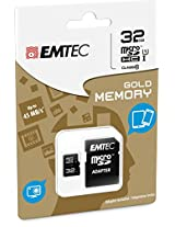 EMTEC 16 GB Class 10 Mini Jumbo Extra MicroSDHC Memory Card with Adapter