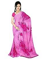 Tirupati Sarees Chiffon Saree (jp-kusum-04-pink_Pink)
