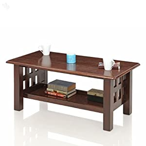 Royal Oak Coffee Table with 1 Shelf Solid Wood