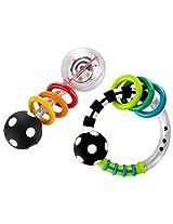 Sassy Spin Shine Rattle Developmental Toy + Rattlin Rings