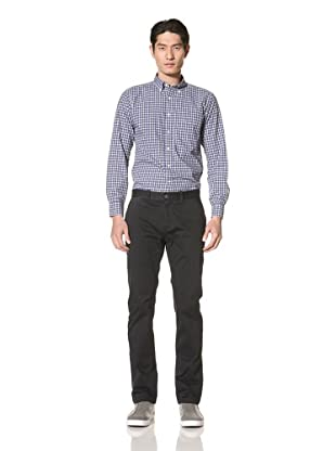Just a Cheap Shirt Men's Flat Front Pants with Stretch (Black)