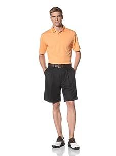 PGA Tour Men's Solid Polo (Musk Melon)