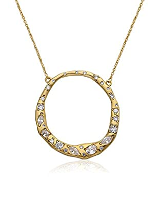 Riccova Retro Open Circle Necklace with CZs