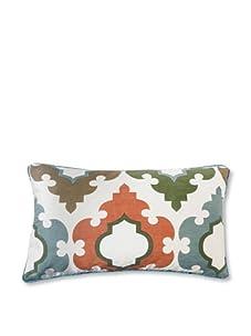 "Jiti Turkish Tiles 12"" x 20"" Pillow, Aqua Multi"