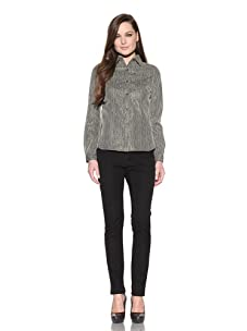 Timo Weiland Women's Back Flap Button Down Shirt (Gold/Black)