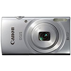 Canon IXUS 145 16MP Point and Shoot Camera (Silver) with 8x Optical Zoom, 8GB Card and Camera Case