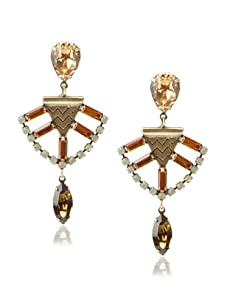 Lionette Designs by Noa Sade Brown and Light Colorado Mercer Tribal Earrings