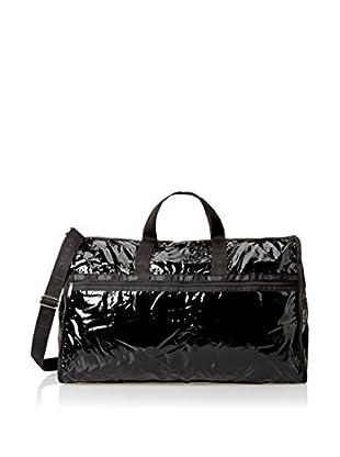 LeSportsac Extra Large Weekender Duffle Bag, Black Patent