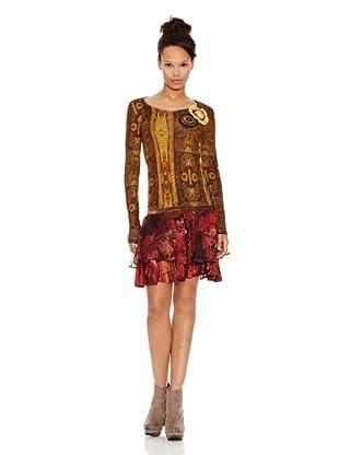 Desigual Vestido Clangour (Dorado)