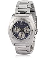 1434-99 Silver/Black Chronograph Watch Giordano