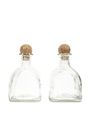 Set of 2 Patron Bottles with Corks